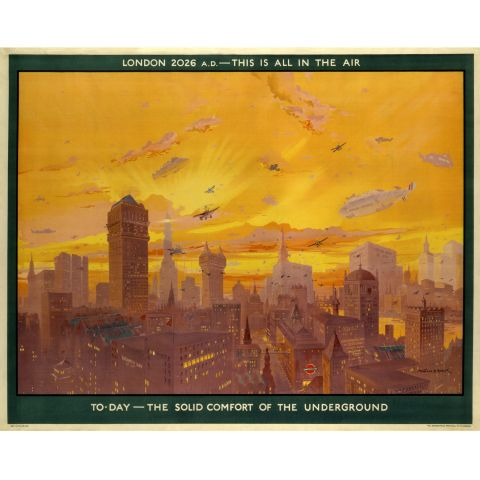 London 2026 AD this is all in the air, by Montague B Black, 1926