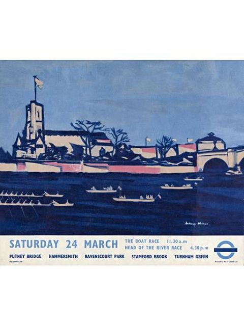 Saturday 24th March; the Boat Race, by Anthony Atkinson, 1956