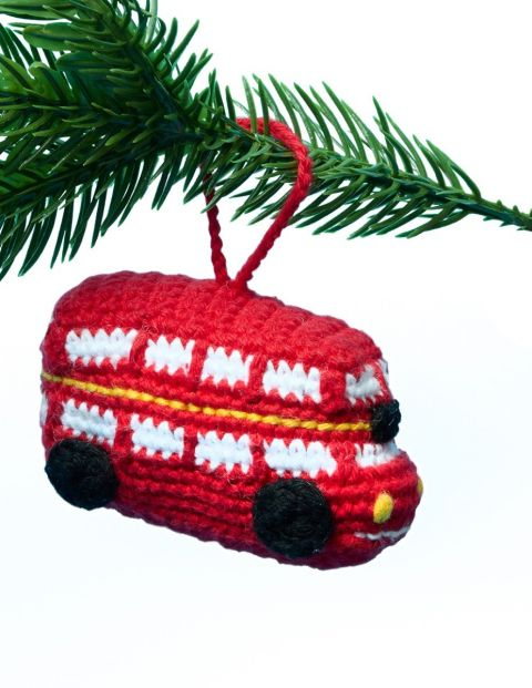 Knitted bus decoration