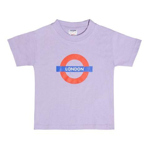 Children's Lilac London Roundel T-shirt