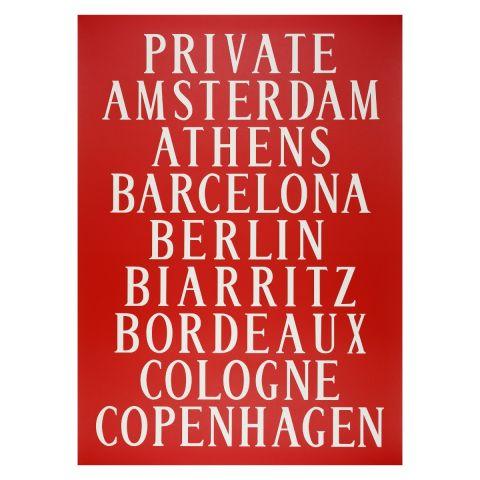 Bus blind poster Amsterdam