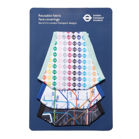 London Transport face covering trio