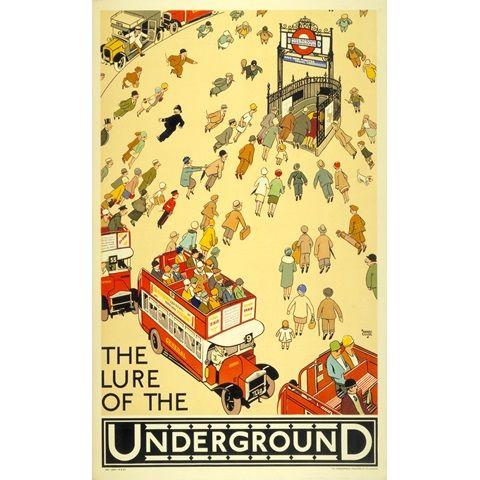 Lure of the Underground 30x40 print