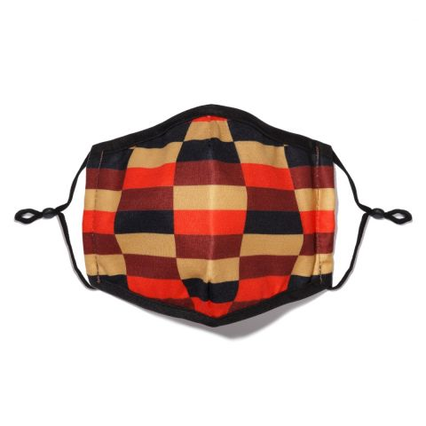 District moquette design face covering