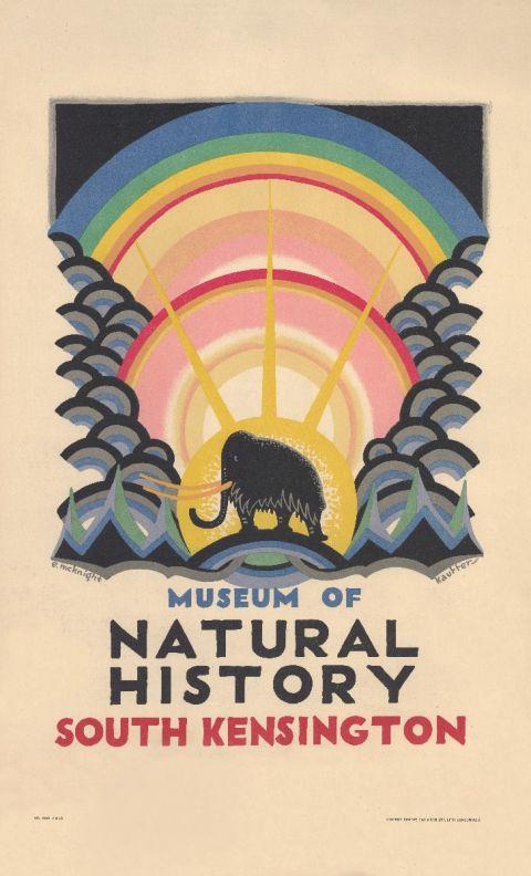 Museum of Natural History - Edward McKnight Kauffer, 1923