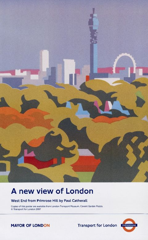 A new view of London; West End from Primrose Hill, by Paul Catherall, 2007