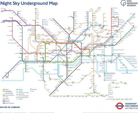Night Sky Tube Map