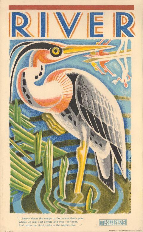 River - Heron, by Clifford Ellis and Rosemary Ellis, 1933