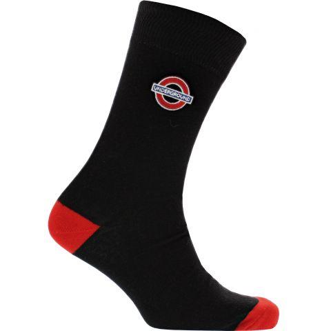 Underground Roundel Black Socks