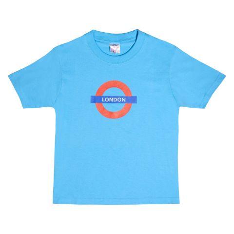Children's Blue London Roundel T-shirt