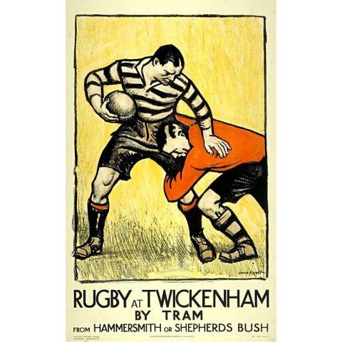 Rugby at Twickenham 30x40 print
