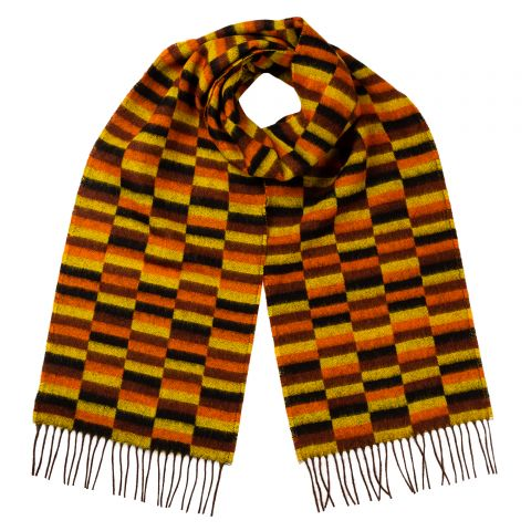 District Moquette Design Lambswool Scarf