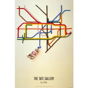 Tate Gallery by Tube 30x40 print
