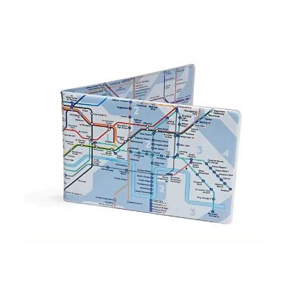 Tube Map Travel Card Wallet