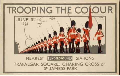 Trooping the Colour, by L B Black, 1925