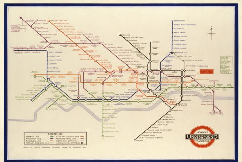 Harry Beck Underground map, 1933