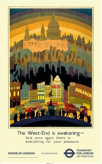 The West-End is awakening, by Ernest Michael Dinkel, 1931 (modern version)