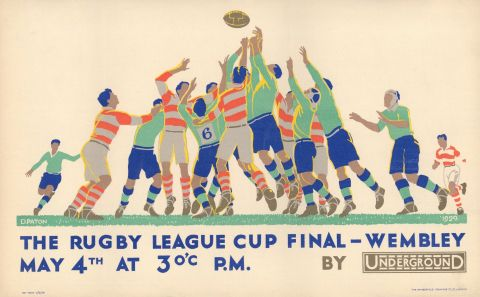 The Rugby League Cup Final - Wembley 30x40 print