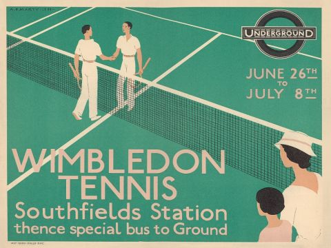 Wimbledon Tennis by Andre Edouard Marty