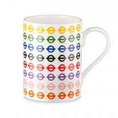Multi Colour Roundel Mug