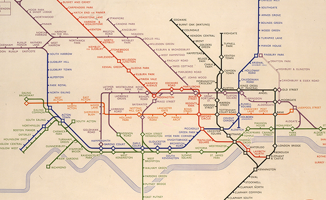 Original tube map of London