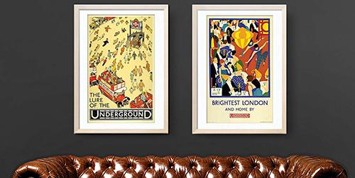 Framed London Print London Underground Poster Camden Town art print black NW1 Postcode Art print